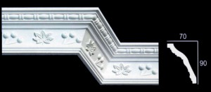 Leaf and Braided Design Cornice