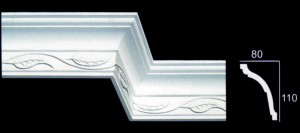 Large Leaf Scroll Cornice
