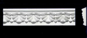 Swag and Drop Design Frieze, Beading or Dado