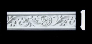 Leaf Scroll Frieze, Beading or Dado