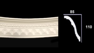 Medium Beaded Curved Cornice