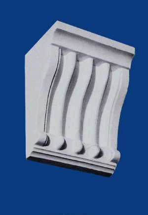 Large Fluted Corbel